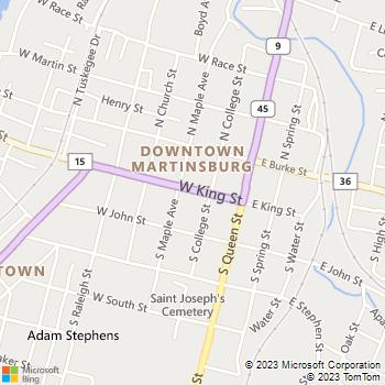 Map - Graham's Gardens - PO Box 2923 - Martinsburg, WV, 25402