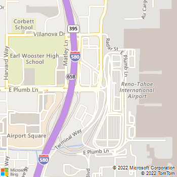 Map - Dollar Rent A Car - 2001 Plumb Lane - Reno, NV, 89502