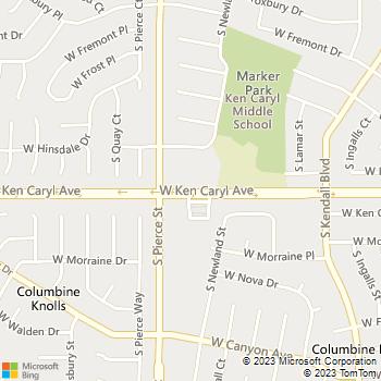 Map - Ken Caryl Veterinary Hospital - 6699 W. Ken Caryl Avenue - Littleton, CO, 80128
