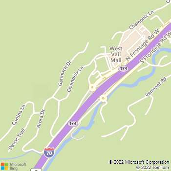 Map - West Vail Shell - 2313 N. Frontage Road W - Vail, CO, 81657