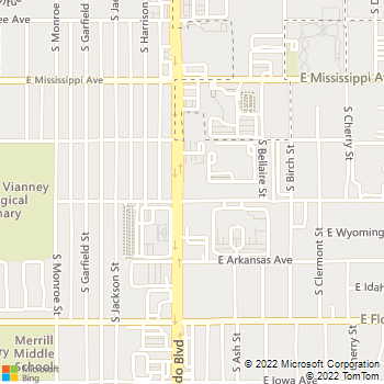 Map - VCA Aspenwood Animal Hospital - 1290 S Colorado Blvd. - Denver, CO, 80246