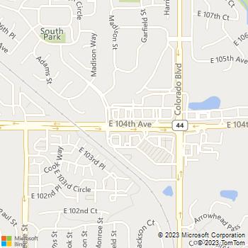 Map - VCA Thornton Animal Hospital - 3555 E 104th Ave - Denver, CO, 80233