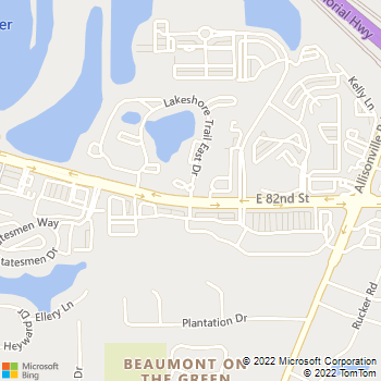 Map - Lakeshore Apartments - 8210 Lakeshore Trail E Dr - Indianapolis, IN, 46250