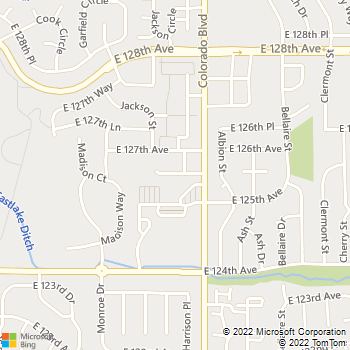 Map - Eastlake Veterinary Services - 12599 Colorado Blvd - Thornton, CO, 80241