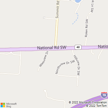 Map - Hillview Veterinary Clinic - 14277 National Rd SW - Reynoldsburg, OH, 43068