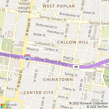 Map - Goldtex - 315 N. 12th St. - Philadelphia, PA, 19107