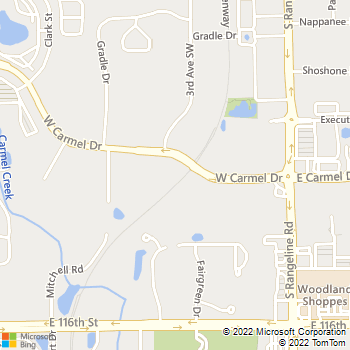 Map - Woodland Animal Hospital - 269 W. Carmel Drive - Carmel, IN, 46032