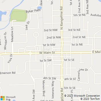 Map - Sophia Square - 110 W Main St - Carmel, IN, 46032