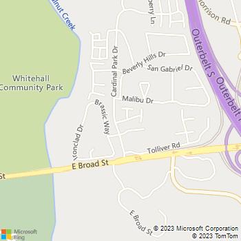 Map - Woodlands - 5354 Deerbrook Ln - Columbus, OH, 43213