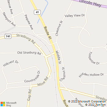 Map - Stoltzfus Painting - 641 Nardon Road - Gap, PA, 17527
