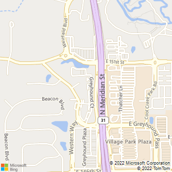 Map - VCA Village Park Animal Hospital - 15018 Greyhound Ct. - Carmel, IN, 46032
