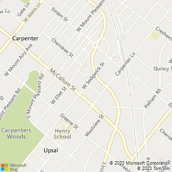 Map - Sedgwick - 440 W. Sedgwick Street - Philadelphia, PA, 19119