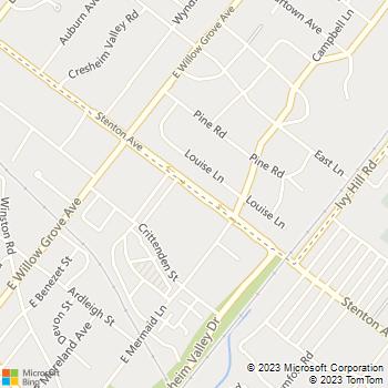 Map - Chestnut Hill Village Apartments - 7800 Stenton Ave - Philadelphia, PA, 19118