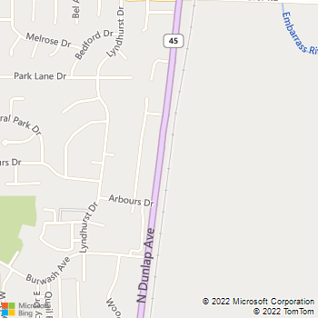 Map - VCA Heritage Animal Hospital - 2101 N Dunlap Ave - Savoy, IL, 61874