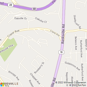 Map - Crane Village Apartments - 651 Oaklynn Ct - Pittsburgh, PA, 15220