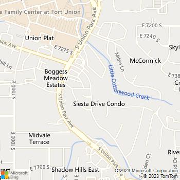 Map - The Lasik Vision Institute, LLC - 7440 Creek Road - Sandy, UT, 84070