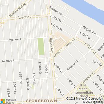 Map - Brooklyn Locksmith - 2181 Ralph Avenue - Brooklyn, NY, 11234