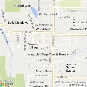 Map - Vine Gate Apartments - 6152 S Vine Hill Ln - Salt Lake City, UT, 84121