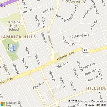Map - Joseph A. Ledwidge Attorney At Law - 170-26 Cedarcroft Rd. - Jamaica, NY, 11432