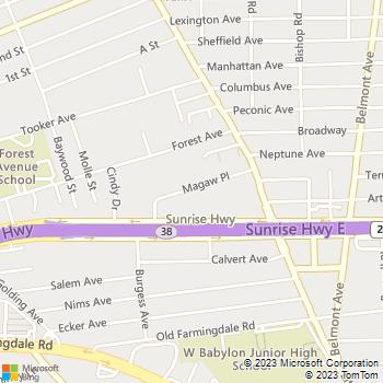 Map - Fairfield Thunderbird Gardens - 110 Magaw Pl - West Babylon, NY, 11704