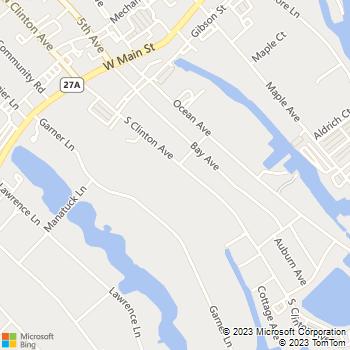 Map - Fairfield Gardens at Bay Shore - 64 S Clinton Ave - Bay Shore, NY, 11706