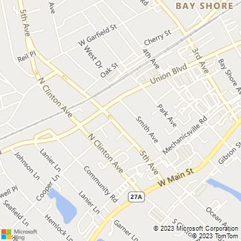 Map - Fairfield Renaissance - 55 5th Ave - Bay Shore, NY, 11706