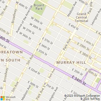 Map - Umbrella Locksmith Service - 25 E 36th Street - New York, NY, 10016