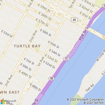 Map - RiverTower - 420 E 54th St - New York, NY, 10022