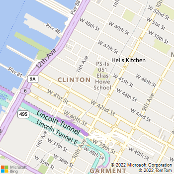 Map - Riverbank West - 560 W 43rd St - New York, NY, 10036