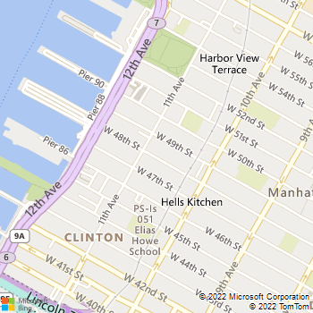 Map - All State Locksmith NYC - 581 W 48th St - New York, NY, 10036