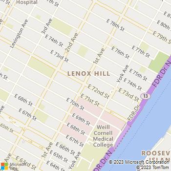 Map - Gotham Locks 24hr - 400 72nd Street - New York, NY, 10021