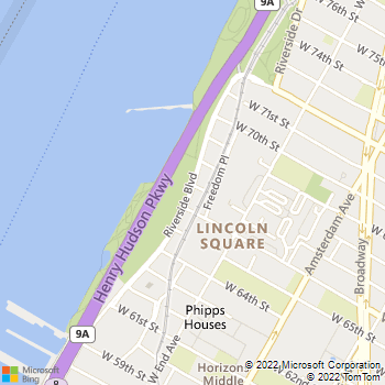 Map - Trump Place - 140 Riverside Blvd - New York, NY, 10069