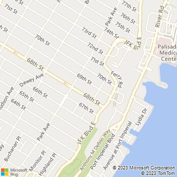 Map - 69th Street Apartments - 63-67 69th Street - West New York, NJ, 07093