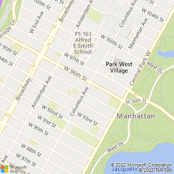 Map - The Westmont - 730 Columbus Ave - New York, NY, 10025