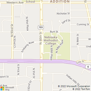 Map - Shefren Law Office P.C., LLO - 619 N 90th St - Omaha, NE, 68114