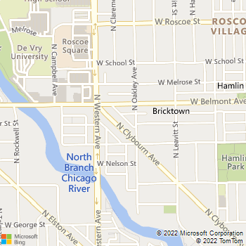 Map - Roscoe Village Animal Hospital - 3131 N Clybourn Ave - Chicago, IL, 60618