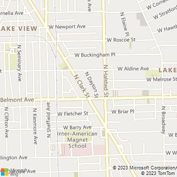 Map - Blum Animal Hospital - 3219 N Clark St - Chicago, IL, 60657