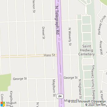 Map - Willis Derry - PO Box 332 - Dearborn Heights, MI, 48127
