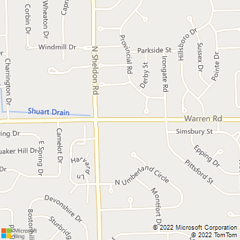 Map - Alsager Animal Care Center - 44262 Warren Rd - Canton, MI, 48187