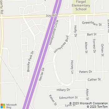 Map - Crossings At Canton - 8375 Honeytree Blvd - Canton, MI, 48187