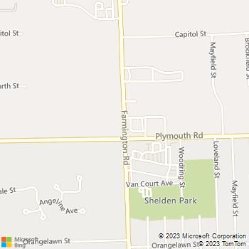 Map - A-Quality Care Veterinary Hospital - 11655 Farmington Rd. - Livonia, MI, 48150