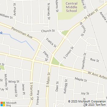 Map - Rozas Property - 292 South Main Street - Plymouth, MI, 48170