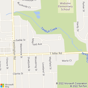 Map - Canterbury Park Apartments - 19400 Mayfield Rd - Livonia, MI, 48152