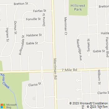 Map - Merriman Woods - 19276 Merriman Rd - Livonia, MI, 48152