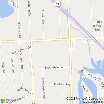 Map - Stevens Worldwide Van Lines - 3663 Elizabeth Lake Road - Waterford, MI, 48328