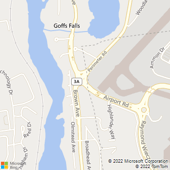 Map - Thrifty Car Rental - 1 Airport Road - Manchester, NH, 03103