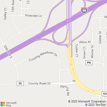 Map - Van Loon Animal Hospital - 1231 Crossing Meadows - Onalaska, WI, 54650