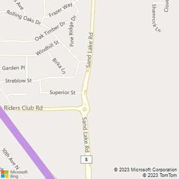 Map - VCA Sand Lake Animal Hospital - 1480 Sand Lake Rd - Onalaska, WI, 54650