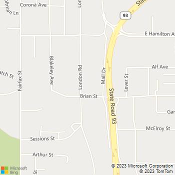 Map - Tradesman, Inc. - 3445 London Road - Eau Claire, WI, 54701