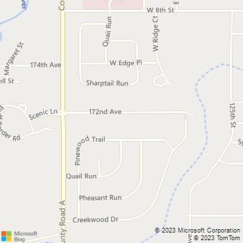 Map - Borgen Lawn Care - 1217 172nd Avenue - New Richmond, WI, 54017